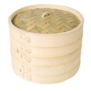 4x12 Inch Bamboo Steamer Traditional Basket Design Food Cooking Great For