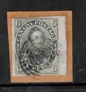 Canada 5 Very Fine Used Right Margin Example On Cover Piece