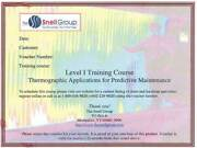 The Snell Group Snell-li-pdm Level I Thermography Trainingpredictive