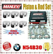 Manley 84.00 Mm Bore 10.2 Cr Piston And 5.709 H-beam Rod Set For Bmw N54b30