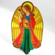 Vintage 1979 Hallmark Christmas Angel Tree Topper Stained-glass Mosaic W/box