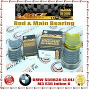 Acl 0.25 Size Rod And Main Bearing Set For Bmw S50b30 3.0l M3 E36 Inline 6