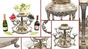 Silver Plate Centrepiece - Sheffield Epergne Cut Glass Stand Dish Bowl