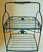 Longaberger Foundry Wrought Iron Two Tiered Stand Table Topeuc