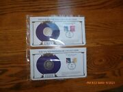 2- Morgan Silver Dollars - Pcs Collection 1901-0 39+25 Cent Stamp,1902,39 +15