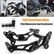 2pc Foot Stand Motorcycle Front Rear Rest Pedals Foot Peg Bracket Aluminum Alloy