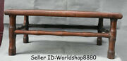 22 Rare Antique Old China Huanghuali Wood Dynasty Words Table Desk Furniture