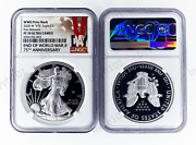 2020 W End Of World War Ii 75th American Silver Eagle V75 Ngc Pf70 Second Day ✈️