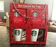 Starbucks Hot Cocoa Mugs Holiday Gift Set For Two 2