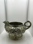 Sterling Silver -- S Kirk And Son Repousse Creamer