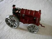 Amish Fordson Cast Iron Tractor 6 1/2 Including Crank, 4 Tall, Really Nice