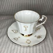 Red Rose Tea Cup And Saucer Of Fortune English Bone China