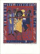Faith Ringgold Somebody Stole My Broken Heart Signed 30 X 22.5 Serigraph 2007