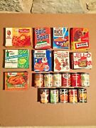 Vintage 80's Retail Brand Toy Food Boxes And Cans