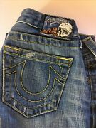 True Religion Skull Pumpkin Patch Rare Jeans Carrie 28 Pre Owned