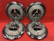Vintage Set Of 4 1965 Plymouth 14andrdquo Spinner Hubcaps Sport Fury Mopar