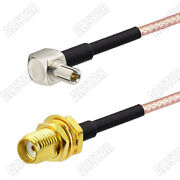 1000pcs Sma Female To Ts9 Male Right Angle Connector Rf Pigtail Cable Rg316 15cm
