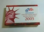 2005 Us Mint Silver Proof Set 11 Coins Includes Original Government Packaging
