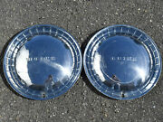 Vintage Set Of 2 Buick 1954 15 Hubcaps Wheel Covers Used