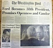 Best 1974 Dc Newspaper Gerald Ford Inaugurated President After Nixon Resigns