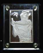 Mickey Mantle Ny Yankees Enviromint Gulfstream Mint 6 Ozt .999 Silver Card 1/750