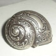 Vintage British Sterling Silver Snail Shell Snuff Box Makers Mark 2 1/2 X 1 1/2