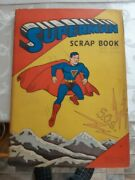 1940 Superman Scrap Book With Pin Up Dolls Very Rare