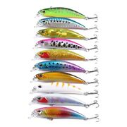 5x10pcs Lot Lase Lure Internal Colo Minnow Floating Fishing Lures Bass