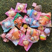 8 Pcs Rare Licensed Yummiibear Squishies Kawaii Squishy Squeeze Toy Bag Package