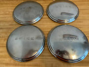 1938 - 41 Set Of 4 11 Buick Dog Dish Hubcaps Raised Letters Wheel Cover