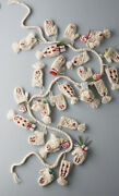 Hable Designs Hats And Mittens Ivory Cable Knit Advent Calendar