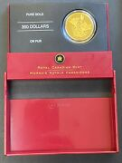 2005 Canada 350 35gm .99999 The Western Red Lily Gold Commemorative Coin And Ogp