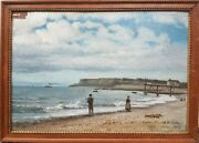 Painting Impressionist Willenich Official Marine Painter Le Havre Beach 19th