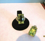 Exceptional Gems En Vogue Ouro Verde Ring And Pendant Set Over 60 Tcw Wow