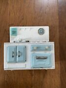 Vintage 1950s Japan Tin Battery Operated Toy Stove Sink As Is