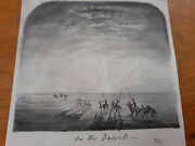 Mid C19th Titled On The Desert Lancers