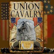 Union Cavalry 8 X 12 Aluminum Sign W/ Top And Bottom Mounting Holes