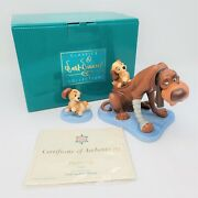Wdcc Lady And The Tramp Old Dog New Tricks Playful Pup Sculpture With Coa And Box