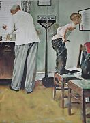 Norman Rockwell American, 1894-1978 Before The Shot Signed/numbered Lithograph
