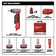 Milwaukee M12 Fuel Cordless 3/8 -inch - 1 -inch Pex Expansion Tool Kit