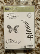 Stampin' Up Butterfly Basics Rubber Stamp Set On Blocks W/ Die