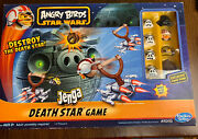 Star Wars Angry Birds Jenga Death Star Game - Cib Great Condition
