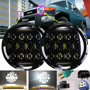7inch 75w Led Headlight High/low Beam Lamps Drl For Toyota Fj Cruiser 2007-2014