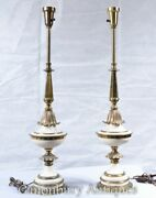 Pair Empire Table Lamps - French Porcelain Lights