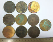 10 China 100 Large Copper Coins Sichuan Military Government Private Issue