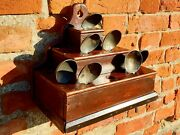 Unusual / Rare Early 19thc Welsh Antique Spoon Rack Of Stepped And Pyramid Form