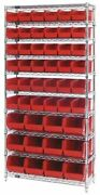 Quantum Storage Systems Wr10-230240rd 36 In W, 48 No. Of Bins, Red