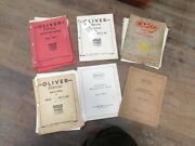 Six Oliver Cletrac 15,20c, And Ag Parts, Instruction, And Maintenance Books Tag 505