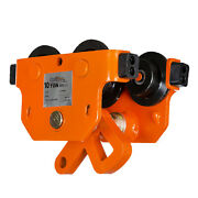 Prowinch 10 Ton I Beam Manual Pushing Trolley With Rubber Bump Stops