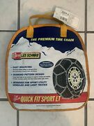 Brand New 2324-s Les Schwab Quick Fit Sport Lt Tire Snow Chains Easy Mounting